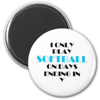 Softball Every Day Blue Magnet