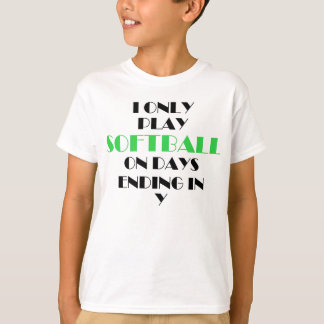 Softball Every Day Green T-Shirt