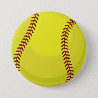 Softball Fan 7.5 Cm Round Badge