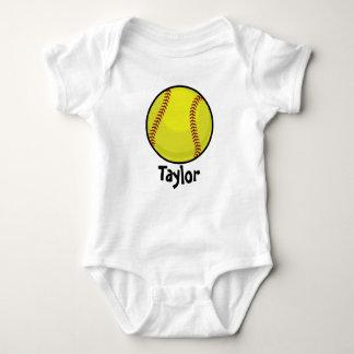 Softball Fan Baby Bodysuit