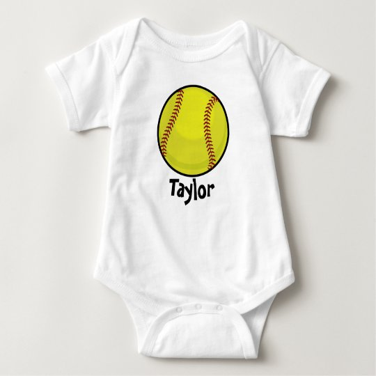 Softball Fan Baby Bodysuit