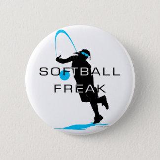 Softball freak - Pitcher front 6 Cm Round Badge