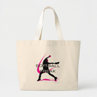 Softball Freak - Pitcher side Large Tote Bag