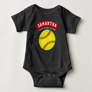 Softball Future All-Star Baby Bodysuit