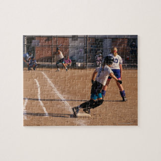 Softball game jigsaw puzzle