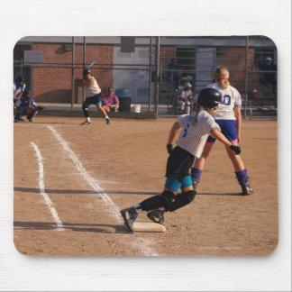 Softball game mouse pad