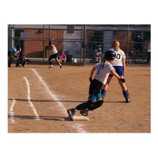 Softball game postcard