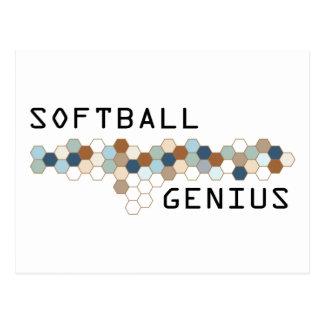 Softball Genius Postcard