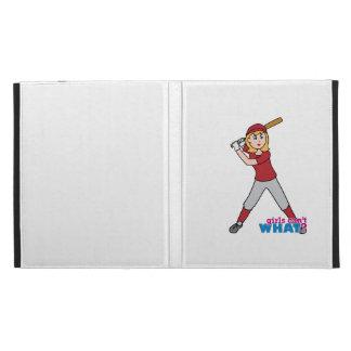 Softball Girl iPad Folio Cases