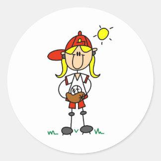 Softball Girl Sticker