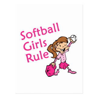 Softball Girls Rule Postcard