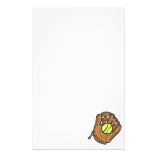 Softball & Glove Stationery