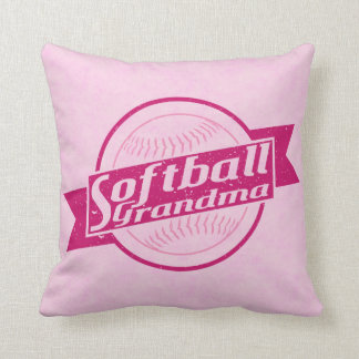 Softball Grandma Customizable Pillow Cushion