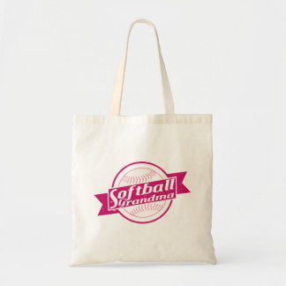 Softball Grandma Grocery Bag