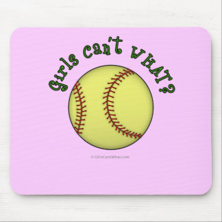 Softball-Green Mouse Pad
