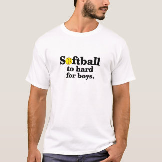 softball hard-black T-Shirt