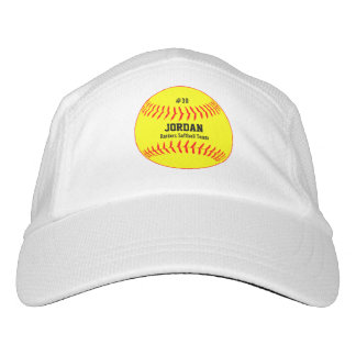 Softball Hat with Player's Name, Number and Team