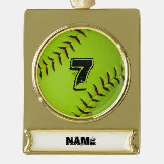 Softball holiday ornament