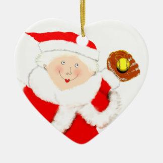 Softball Holidays Christmas Ornament