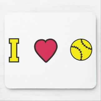Softball I Heart Mousepad