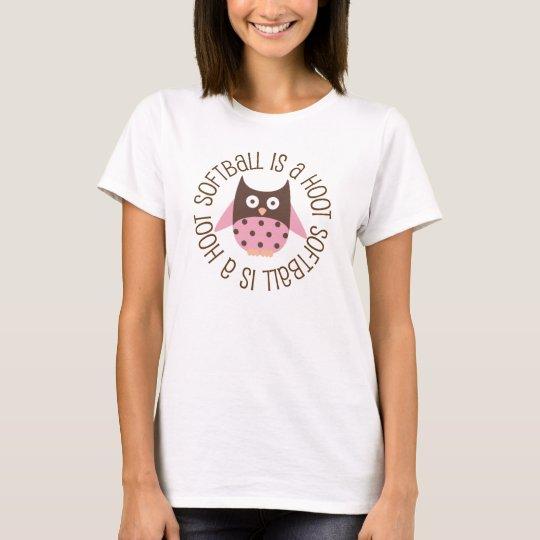 Softball is A Hoot Owl T-Shirt