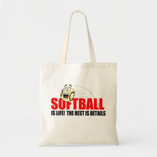 Softball Is Life Budget Tote Bag