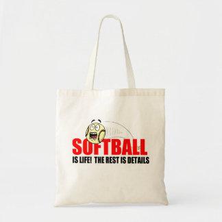 Softball Is Life Budget Tote Bag