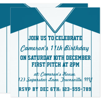 Softball Jersey Themed Party Invites Template