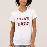 Softball  Ladies T-Shirt