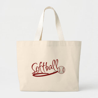 Softball Large Tote Bag