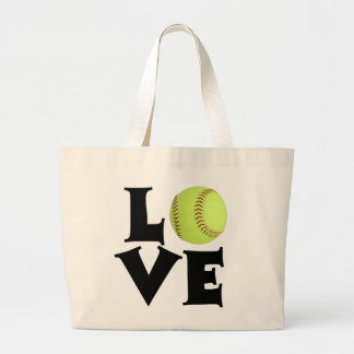 Softball Love Jumbo Tote Bag