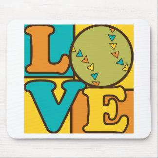 Softball Love Mousepads