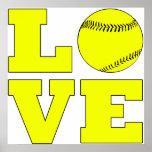 Softball Love Poster