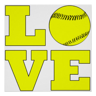 Softball Love Poster