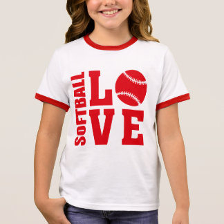 Softball Love, Softball Ringer T-Shirt