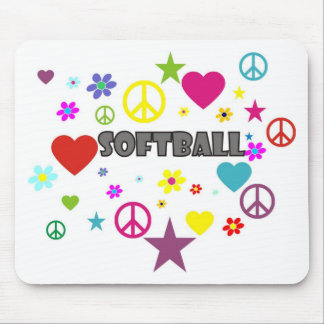 Softball Mixed Graphics Mousepad
