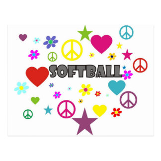 Softball Mixed Graphics Postcard