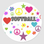 Softball Mixed Graphics Stickers