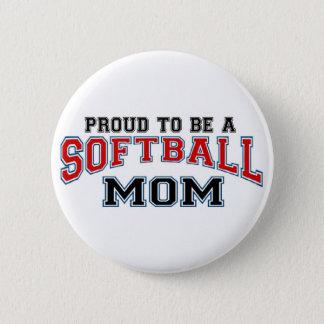 Softball mom 6 cm round badge