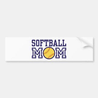 Softball Mom Bumper Sticker