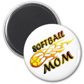 Softball Mom (flame) copy.png Magnet