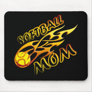 Softball Mom (flame) copy.png Mouse Pad