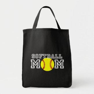 Softball Mom Grocery Tote Bag
