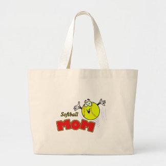 Softball Mom II Large Tote Bag