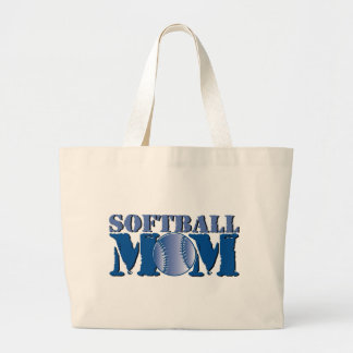 Softball Mom Large Tote Bag