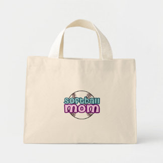 Softball Mom Mini Tote Bag