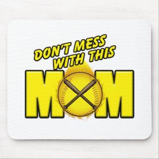 Softball Mom Mouse Pad