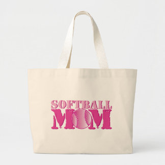 Softball Mom pink Large Tote Bag