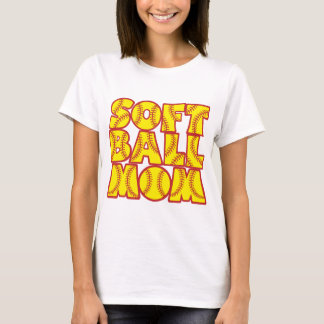 Softball Mom, red&yellow T-Shirt