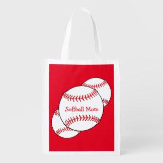Softball Mom Reusable Bag